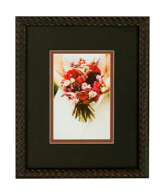 Black frame with double matboard