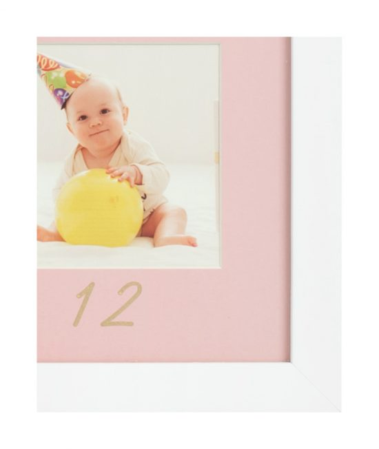 baby frame pink my first year detail
