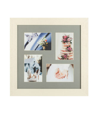 Side beige multi apparture photo frame