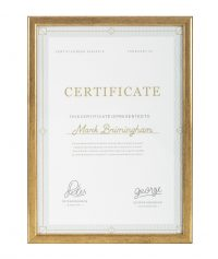 A4 gold classic quality frame