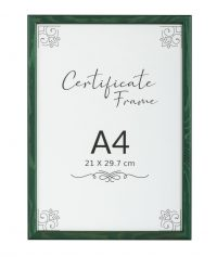A4 green classic quality frame