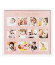 baby frame my first year pink