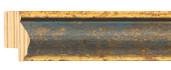 Blue and gold frame frame piece