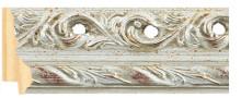 Αntique silver leaf frame frame piece