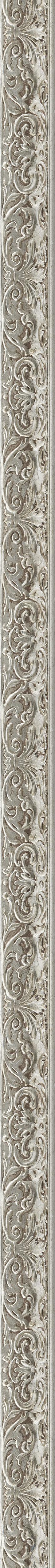 Elegant silver leaf frame frame
