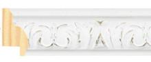 Carved white decape frame frame piece