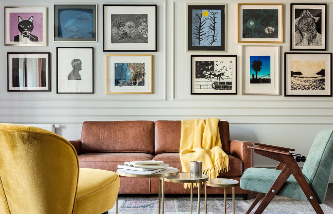 Hang in there! – How to frame and  hang your art properly in your home article cover image