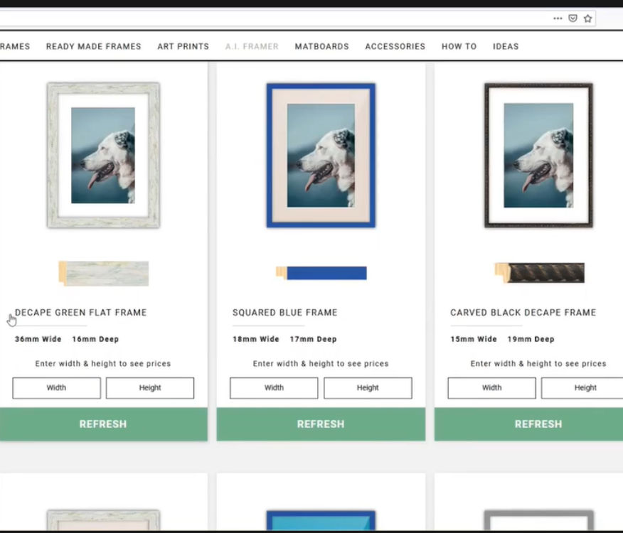 Choose a custom frame with A.I. Framer article cover image